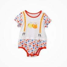 丑丑婴幼新生儿三角哈衣爬服夏季新款男女宝宝圆点时尚连体哈衣