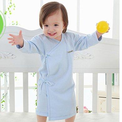 【Cottonshop棉店】新生兒衣服0-3-6-9個月男女寶寶純棉睡衣15C3B131006連體衣純棉系帶式嬰幼兒睡衣睡袍