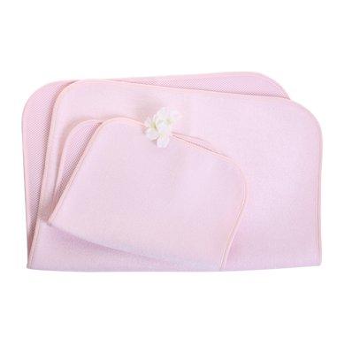 【Cottonshop棉店】雙面可用3D竹纖維防水透氣隔尿墊餐桌墊月經墊推車墊床墊兩條裝