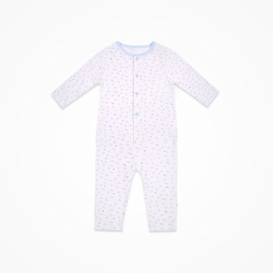 丑丑婴幼 男女宝宝纯棉前开套装四季长袖家居服套装1-3岁 CJD707X