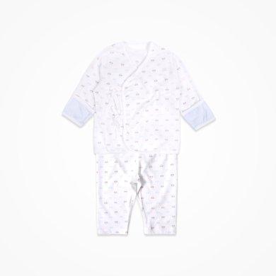 丑丑嬰幼 男女寶寶純棉綁帶套裝四季新款嬰幼兒長袖家居服套裝 CJD727X