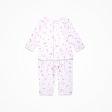 丑丑婴幼男女宝宝前开套装新款婴童长袖家居服前开套装3个月-3岁CJD708X