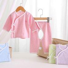 【Cottonshop棉店】反季促銷經典款寶寶套裝嬰兒服裝 柔軟和尚系帶服
