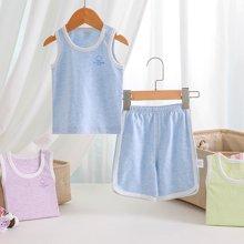 【Cottonshop棉店】反季熱銷背心款嬰兒夏裝背心短袖寶寶家居服