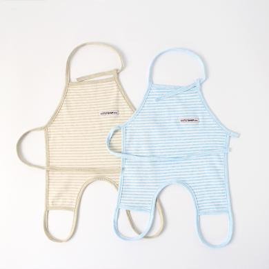 棉店 嬰兒肚兜夏季純棉薄款清爽可穿戴系帶新生兒護肚寶寶圍裙