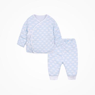 丑丑嬰幼 男女寶寶綁帶棉套裝冬季新生兒保暖綁帶棉衣套裝 CMD721X
