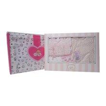 丑丑婴幼 春季新款时尚男女宝宝 柔棉四件装礼盒0-6个月CLF051L