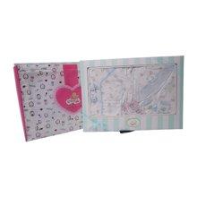 丑丑婴幼 春季新款男女宝宝 初生四件装礼盒3-6个月CLF011L