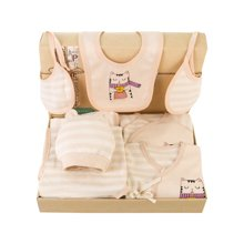 班杰威尔春夏10件套婴儿衣服新生儿礼盒彩棉刚出生满月宝宝套装用品