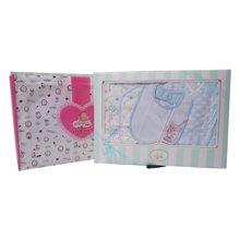 丑丑婴幼 春季新款 男女宝宝 初生四件装礼盒0-3个月CLF012L