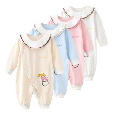 班杰威爾純棉嬰兒連體衣春秋新生兒哈衣爬服裝夏季嬰兒衣服