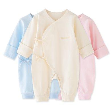 班杰威尔新生儿衣服 宝宝春秋装内衣纯棉婴儿连体衣长袖哈衣