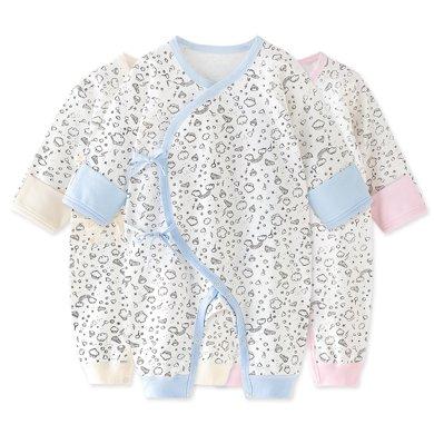 班杰威尔婴儿衣服宝宝连体衣春秋纯棉爬服新生儿哈衣