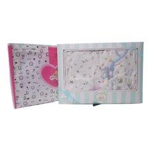 丑丑婴幼 春季新款男女宝宝 柔棉四件装礼盒0-6个月CLF010L