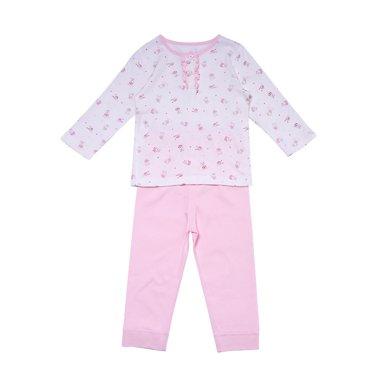 丑丑嬰幼 女寶寶可愛前半開套裝春秋款女童長袖內衣家居服套裝1-4歲 CLD753X