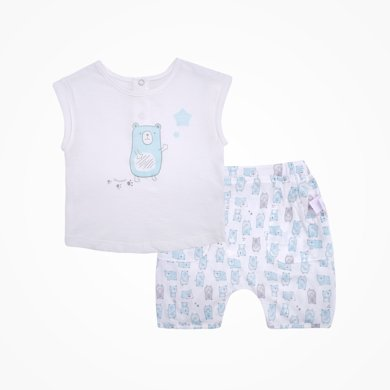 丑丑嬰幼 夏季新款 男女寶寶 純棉后半開套裝6個月-4歲CLD768X