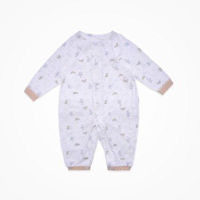 丑丑嬰幼 男女寶寶前開哈衣四季嬰幼兒純棉長袖哈衣、爬服、連體衣0-1歲半 CLD029X
