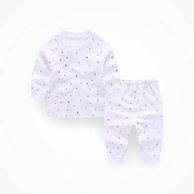 丑丑嬰幼 新款男女寶寶側開長袖套裝新生兒春秋圓領套裝 0-2歲CKD782X