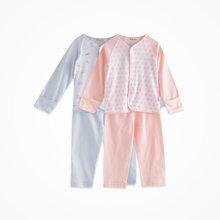丑丑婴幼 夏季新款 男女宝宝 纯棉前开套装3个月-2岁 CBJ7005