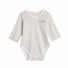 G100寄意百婴儿内衣新生儿连体衣贴身打底竹彩棉长袖三角爬服