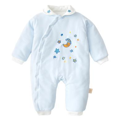班杰威尔秋冬季款婴儿连体?#38706;?#35013;加厚棉衣哈衣新生儿衣服外出棉服棉袄宝宝