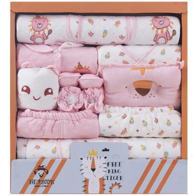 班杰威爾新生兒禮盒套裝嬰兒衣服純棉秋冬加厚初生剛出生寶寶用品