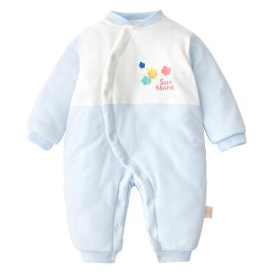 班杰威爾秋冬季款嬰兒連體衣加厚棉衣哈衣新生兒衣服外出棉服棉襖寶寶