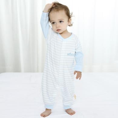 嘜巴兔薄款嬰兒哈衣爬服寶寶和尚服純棉連體衣