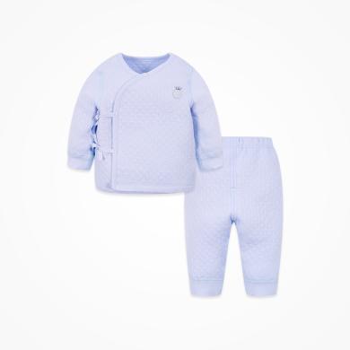 丑丑嬰幼 秋冬新款男女寶寶綁帶保暖套裝 0--6個月 CMD713K