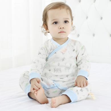 嘜巴兔純棉嬰兒連體衣新生兒爬服寶寶哈衣和尚服