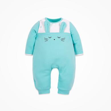 丑丑嬰幼 春秋新款女寶寶可愛小兔哈衣、爬服、連體衣3個月-1歲半 CME075X