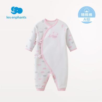 麗嬰房嬰兒衣服新生兒連體哈衣純棉寶寶春裝內衣連體衣2019新品春