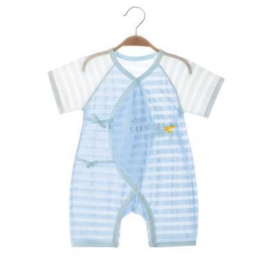 班杰威爾嬰兒連體衣短袖男女寶寶夏裝哈衣薄款初新生兒睡衣服