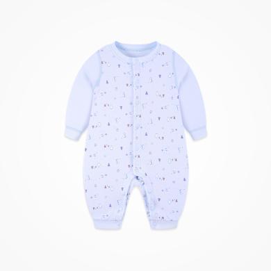 丑丑嬰幼 男女寶寶前開哈衣四季新款嬰幼兒長袖純棉哈衣、爬服、連體衣 CND006X