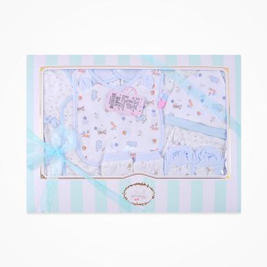 丑丑嬰幼 男女寶寶初生六件裝禮盒裝四季新款新生兒綁帶套裝禮盒 CNF002L