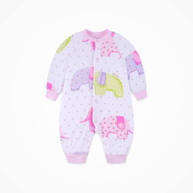 丑丑嬰幼 男女寶寶純棉前開哈衣四季長袖卡通哈衣、爬服、連體衣 CID015T