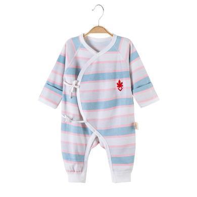 班杰威爾純棉嬰兒連體衣服長袖新生兒睡衣哈衣
