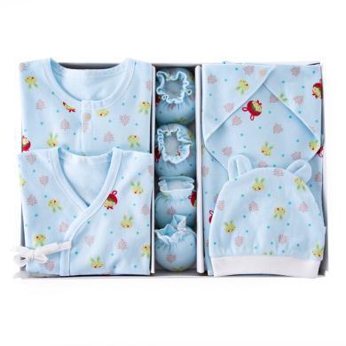 班杰威爾18件套純棉嬰兒衣服新生兒禮盒春夏剛初出生寶寶套裝母嬰用品滿月送禮物
