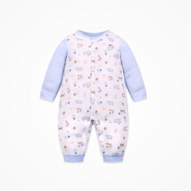 丑丑嬰幼 新生兒純棉連體衣四季新款男女寶寶前開卡通哈衣、爬服3個月-1歲半 CMD006X