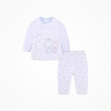 丑丑嬰幼新生兒卡通內衣套裝夏季男女寶寶純棉家居服套裝