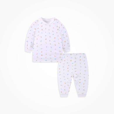 丑丑嬰幼 男女寶寶純棉肩開套裝四季男女童內衣家居服套裝