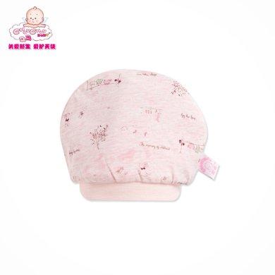 丑丑嬰幼 春季新款新生兒男女寶寶帽子0-3個月嬰兒中性圓頂胎帽