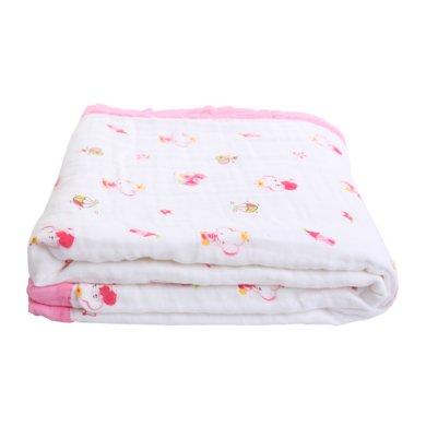 【Cottonshop棉店】婴儿毛毯新生儿盖毯儿童幼儿园宝宝云毯小被子四季毯子0-7岁宝宝均可用 四季可用空调被凉被六层纱布宝宝盖毯大码
