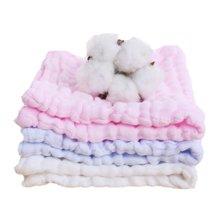 【Cottonshop棉店】 兩組促銷裝 寶寶洗臉巾柔軟吸水美容巾嬰幼兒面巾紗布水洗手帕三條裝