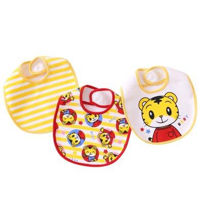 【99選3】媽唯樂Marvelous Kids 純棉寶寶吃飯圍嘴圍兜防水三條裝