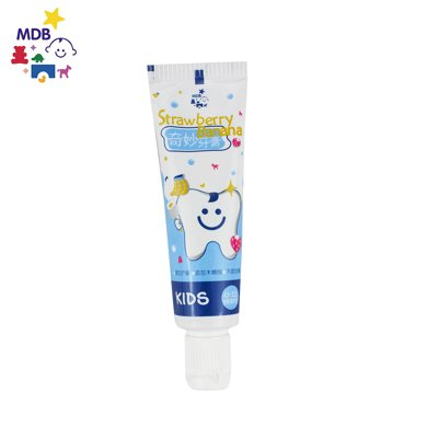 MDB儿童牙膏3-6-12岁换牙期无氟?#20048;?#27700;果味婴幼儿宝宝牙膏    FP-K-SB   (25g)
