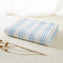 【Cottonshop/棉店】色织间条六层水洗浴巾