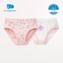 丽婴房婴儿衣服 男女宝宝三角裤小童儿童纯棉内裤两条装