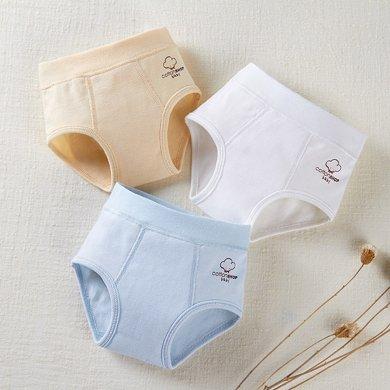 【Cottonshop/棉店】經典兒童內褲男童三角內褲純棉寶寶褲頭寶寶內褲 男寶寶純棉三角內褲三條裝