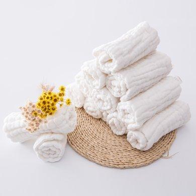 【周年庆嗨购 99选3】Marvelous kids十二层婴儿纯棉纱布尿布5条装送尿布扣